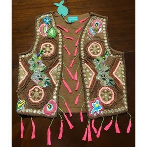 Antica Sartoria Hand Beaded and Embroidered Vest